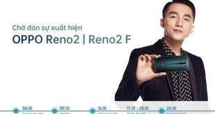 Thời gian giới thiệu bộ đôi OPPO Reno2 và OPPO Reno2 F