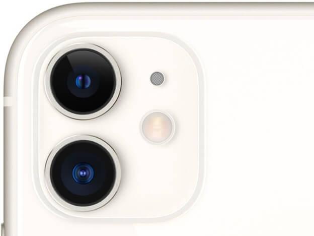 iPhone 11 được trang bị cụm camera kép mặt sau