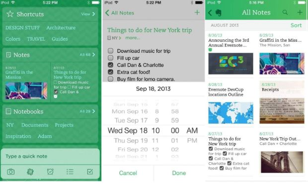 Ứng dụng ghi chú Evernote