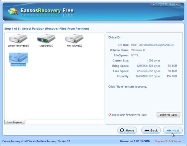 Eassos Recovery giúp bạn khôi phục lại các dữ liệu đã mất trên USB, ổ cứng máy tính, ổ cứng ngoài, thẻ nhớ
