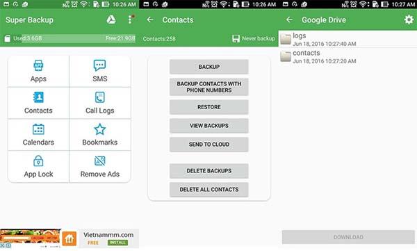 Hai điện thoại có thể chuyển được dữ liệu yêu cầu cần đăng nhập tài khoản Google