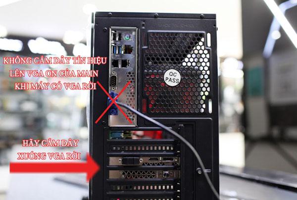 Kiểm tra lại hệ thống nguồn điện và dây nguồn kết nối với máy tính